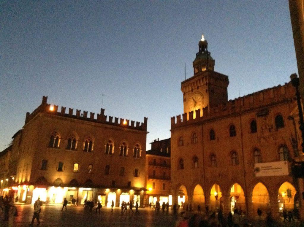 Piazza Maggiore by night
